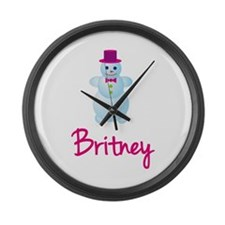 Britney the snow woman Large Wall Clock