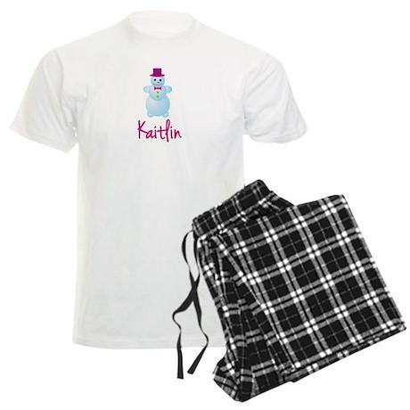 Kaitlin the snow woman Men's Light Pajamas