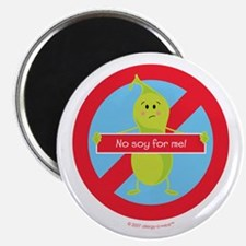 No Soy For Me! By Allergy-A-Wear™ Magnets