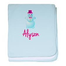 Alyson the snow woman baby blanket