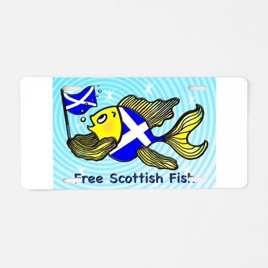 Free Scottish Fish Aluminum License Plate