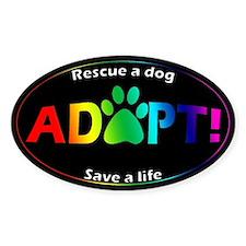 Adopt Sticker (Multi on Black)