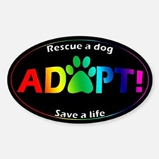 Adopt Sticker (Multi on Black)