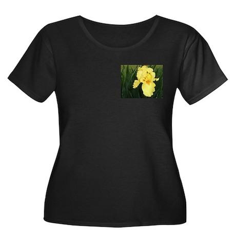 """""""Yellow Iris"""" Plus Size Dark T-Shirt"""