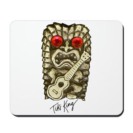 Ukulele Playing Tiki Mousepad