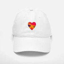 ORANGE/FUCHSIA STACKED HEARTS Baseball Baseball Cap