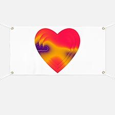 ORANGE/FUCHSIA STACKED HEARTS Banner