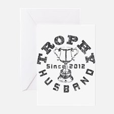 Trophy Husband Since 2012 Greeting Cards (Pk of 10