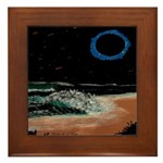 Eclipsed Beach Collection Framed Tile