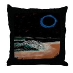 Eclipsed Beach Collection Throw Pillow