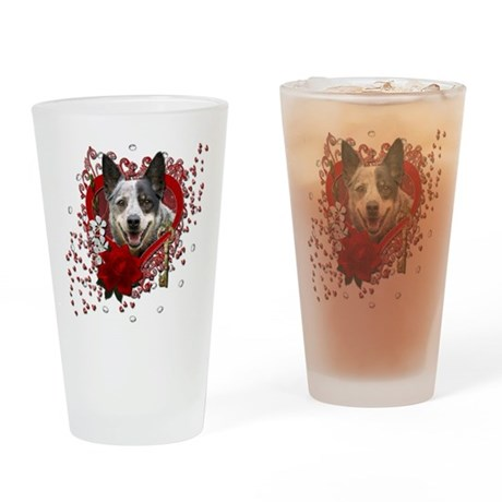 Valentines - Key to My Heart Cattle Dog Drinking G