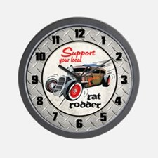 Support Local Rat Rodder Wall Clock