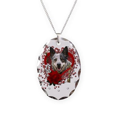 Valentines - Key to My Heart Cattle Dog Necklace O
