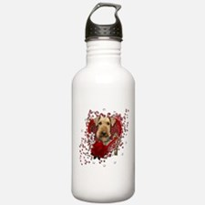 Valentines - Key to My Heart Airedale Water Bottle