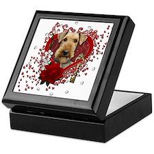 Valentines - Key to My Heart Airedale Keepsake Box