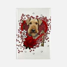 Valentines - Key to My Heart Airedale Rectangle Ma