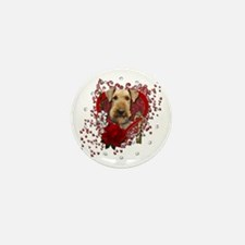Valentines - Key to My Heart Airedale Mini Button
