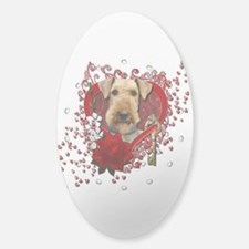 Valentines - Key to My Heart Airedale Decal