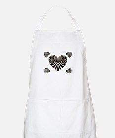 ZEBRA SKIN STACKED HEARTS Apron