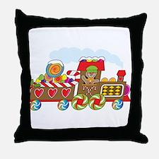 Gingerbread Train Throw Pillow