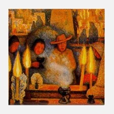 Diego Rivera Day of the Dead Art Tile Coaster