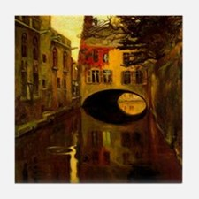 Diego Rivera House Over Bridge Art Tile Coaster