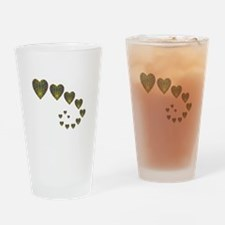 PEACOCK KALEIDOSCOPE HEART TRAILS Drinking Glass