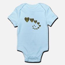 PEACOCK KALEIDOSCOPE HEART TRAILS Infant Bodysuit