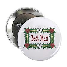 Best Man Tropical Button