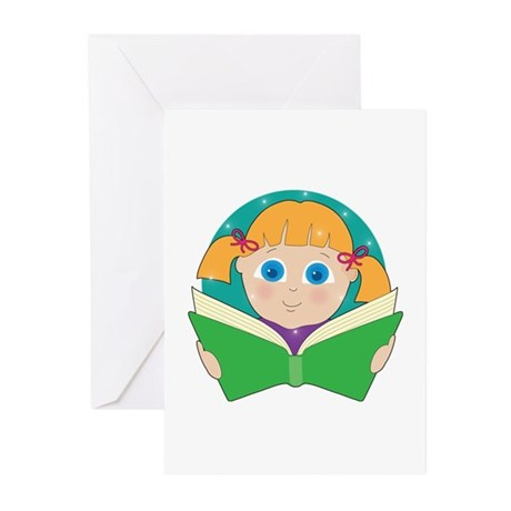 Child Reading Greeting Cards (Pk of 10)