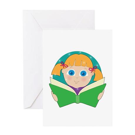 Child Reading Greeting Card