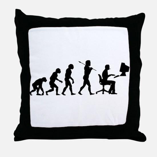 Evolved - Gamer Throw Pillow