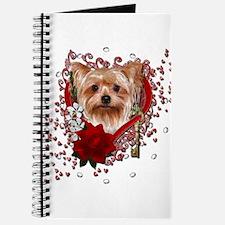 Valentines - Key to My Heart Yorkie Journal