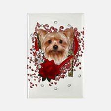Valentines - Key to My Heart Yorkie Rectangle Magn