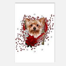 Valentines - Key to My Heart Yorkie Postcards (Pac