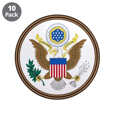 """US Great Seal - Obverse 3.5"""" Button (10 pack)"""