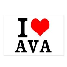 I Heart Ava Postcards (Package of 8)