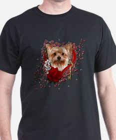 Valentines - Key to My Heart Yorkie T-Shirt
