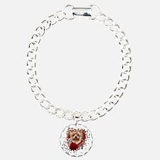 Valentines - Key to My Heart Yorkie Charm Bracelet