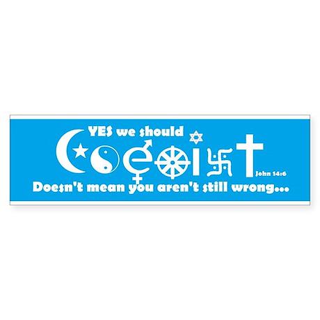Coexist Sticker (Bumper)