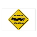 Panther Crossing Sign Postcards (Package of 8)