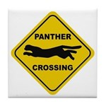 Panther Crossing Sign Tile Coaster