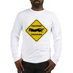 Panther Crossing Sign Long Sleeve T-Shirt