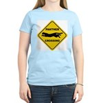 Panther Crossing Sign Women's Pink T-Shirt