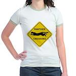 Panther Crossing Sign Jr. Ringer T-Shirt