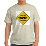 Panther Crossing Sign Ash Grey T-Shirt