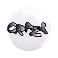 "Crazy Graffiti Art Design 3.5"" Button"