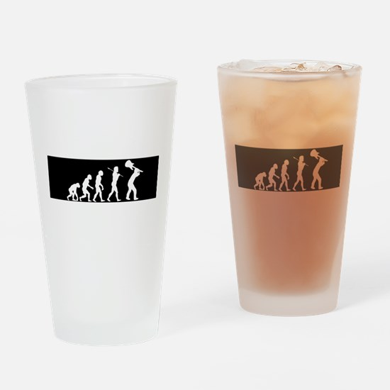 Rock Evolution Drinking Glass