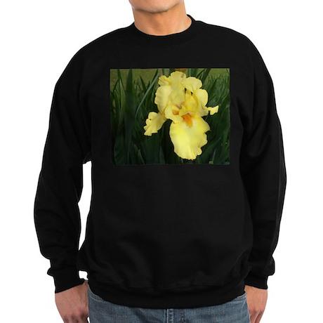 """""""Yellow Bearded Iris"""" Sweatshirt (dark)"""