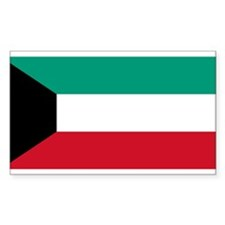 Flag of Kuwait Rectangle Decal